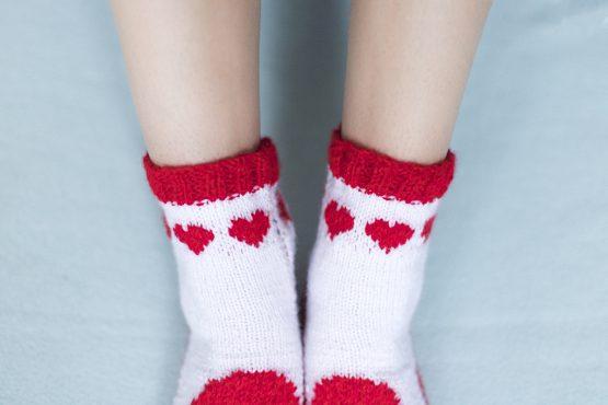 srdcove ponožky nosimumenie