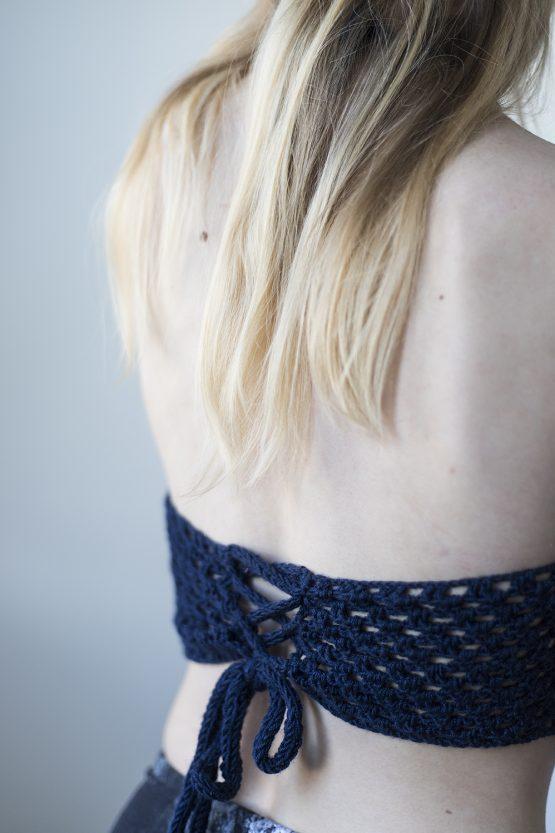 modrý crop top nosímumenie