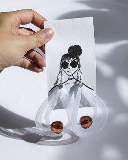 naušnice beads nosimumenie