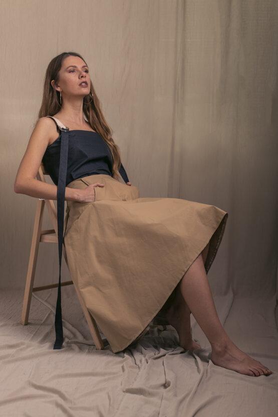 sukňa camel nosimumenie
