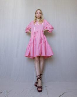 ružové šaty basic nosimumenie