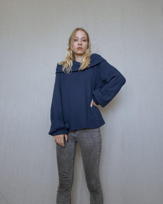 sveter-modry-nosimumenie